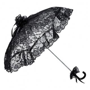 Romantischer Brautschirm Hochzeitsschirm in schwarz von MySchirm.de - Decoschirm