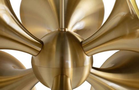 Casa Padrino Luxus Hängeleuchte Messingfarben 55 x 55 x H. 53 cm - Messing Pendelleuchte - Wohnzimmer Lampe - Luxus Kollektion - Vorschau 3