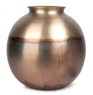 Casa Padrino Luxus Vase Bronze / Gold Ø 41 x H. 42 cm - Aluminium Blumenvase