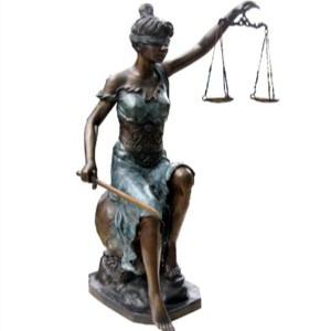 Casa Padrino Luxus Bronzefigur Lady Justice auf Marmorsockel - Bronze Justitia Figur Büste Anwalt Notar