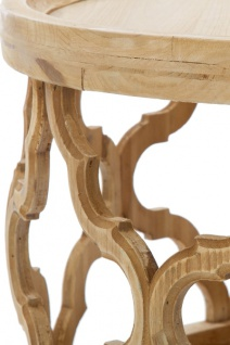 Casa Padrino Designer Couchtisch Naturfarben Ø 80 x H. 37 cm - Moderner Runder Holz Wohnzimmertisch - Vorschau 3