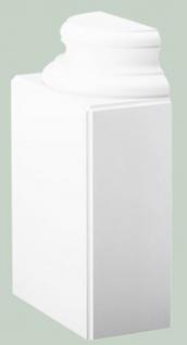 Casa Padrino Barock Zierelement Säulenfuß Sockel Weiß 35 x 17, 5 x H. 57, 5 cm - Prunkvolle Wanddeko - Barock Deko
