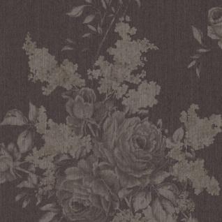 Casa Padrino Barock Textiltapete Grau / Braun 10, 05 x 0, 53 m - Wohnzimmer Deko Accessoires