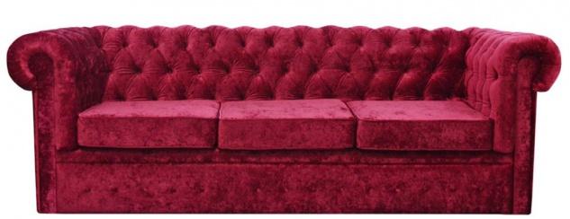 Casa Padrino Luxus Chesterfield Samt Sofa 235 x 93 x H. 84 cm - Verschiedene Farben - Chesterfield Möbel