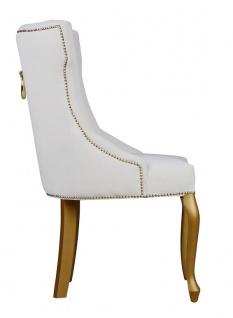 Casa Padrino Luxus Esszimmer Stuhl Barock mit Metall Rückenring - Luxus Qualität - ALLE FARBEN - Neo Classic Vintage Style Hotel Stuhl - Möbel - Vorschau 3