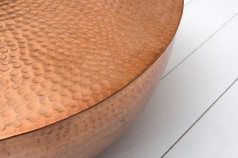 Casa Padrino Luxus Couchtisch kupfer 68 cm Aluminium - Wohnzimmer Salon Tisch - Unikat - Vorschau 2