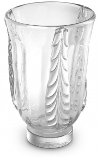 Casa Padrino Luxus Deko Glas Vase Ø 24, 5 x H. 35 cm - Elegante mundgeblasene Blumenvase - Deko Accessoires