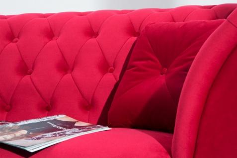 Casa Padrino Chesterfield Sofa in Rot 225 x 90 x H. 79 cm - Designer Chesterfield Sofa - Vorschau 2
