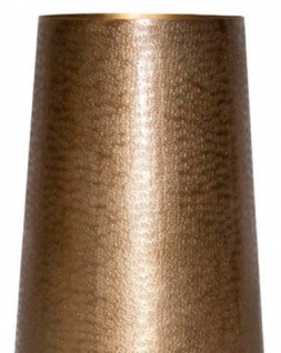 Casa Padrino Aluminium Vase Gold Ø 35 x H. 100 cm - Luxus Deko Vase - Vorschau 2