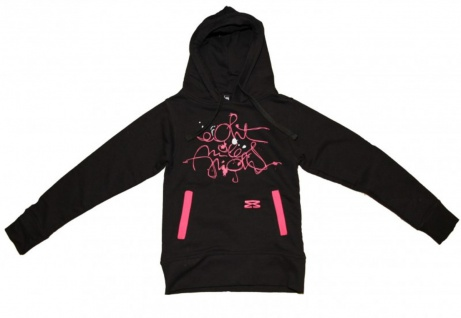 8mileshigh Skateboard Basic Hoody Sweet Scripties Black/Pink Sweater