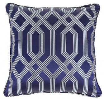 Casa Padrino Luxus Kissen blau mit Muster 60 x 60 cm - Luxus Accessoires - Vorschau 1