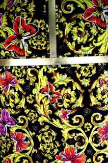 Pompöös by Casa Padrino Luxus Ballon Barock Sessel Schwarz / Gold / Butterfly & Flower Design mit glitzernder Krone - Pompööser Barock Sessel designed by Harald Glööckler - Vorschau 2