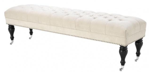 Casa Padrino Wohnzimmer Sitzbank Naturfarbig 160 x 46 x H. 45 cm - Luxus Qualität