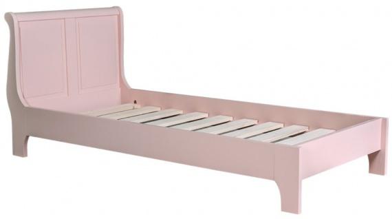 Casa Padrino Massivholz Landhausstil Bett Rosa - Verschiedene Größen - Schlafzimmermöbel