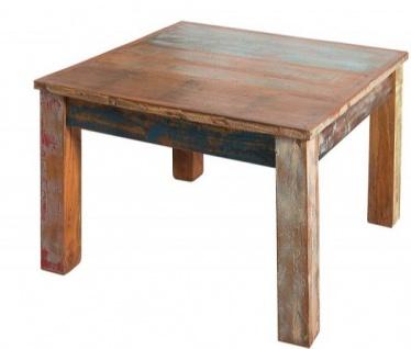 Casa Padrino Designer Massivholz Couchtisch Bunt 60 x H. 45 cm - Massivholz - Salon Wohnzimmer Tisch