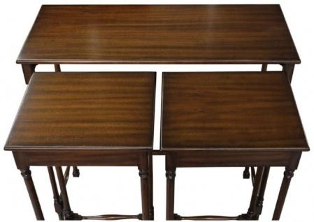 Casa Padrino Luxus Mahagoni Beistelltisch Set Dunkelbraun 67 x 28 x H. 70 cm - Luxus Möbel - Vorschau 2
