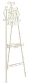 Casa Padrino Jugendstil Staffelei Weiß 50, 5 x H. 162, 5 cm - Barock & Jugendstil Deko Accessoires