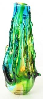 Casa Padrino Designer Glasvase Mehrfarbig 19, 1 x 16, 5 x H. 42, 9 cm - Luxus Deko Blumenvase