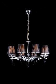 Casa Padrino Barock Decken Kristall Kronleuchter Chrome 70 x H 42 cm Antik Stil - Möbel Lüster Leuchter Hängeleuchte Hängelampe
