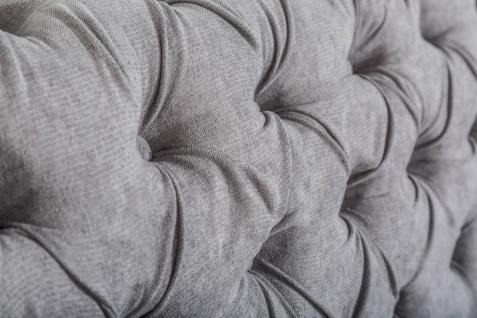 Casa Padrino Chesterfield Sofa in Grau 230 x 90 x H. 80 cm - Designer Chesterfield Sofa - Vorschau 3