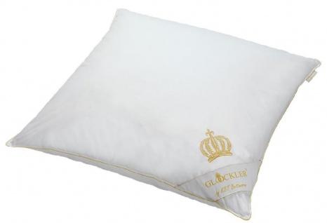 Harald Glööckler Designer Kopfkissen 80 x 80 cm Weiß / Gold + Casa Padrino Luxus Barock Bleistift mit Kronendesign - Vorschau 2
