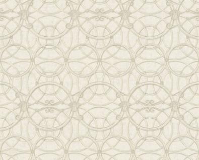 Versace Designer Barock Vliestapete IV 37049-3 - Beige / Creme / Weiß - Design Tapete - Hochwertige Qualität