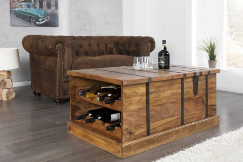 Casa Padrino Designer Bar Couchtisch Naturfarben 100cm x 60cm x H40cm - Wohnzimmermöbel im Landhausstil - Vorschau 5