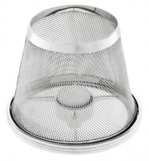 Casa Padrino Luxus Teelichthalter-Lampenschirm Silber Ø 16 x H. 13, 5 cm - Hotel & Restaurant Accessoires