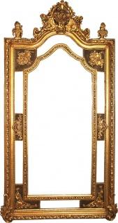 Riesiger Casa Padrino Barock Wandspiegel Gold Antik Stil 115 x H. 215 cm - Prunkvoller Barock Spiegel mit wunderschönen Verzierungen