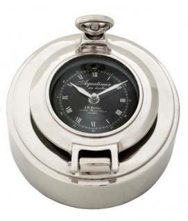 Casa Padrino Designer Luxus Uhr Clock Porthole Höhe 13 cm, Durchmesser 9 cm - Edel & Prunkvoll