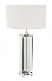 Casa Padrino Luxus Tischleuchte Nickel Durchmesser 17 x 45 x H 91 cm - Luxus Leuchte