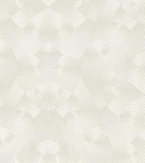Harald Glööckler Designer Barock Vliestapete 54463 - Weiß / Metallic