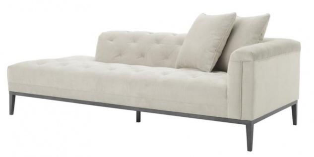 Casa Padrino Luxus Sofa Hellgrau Rechtsseitig 220 x 96 x H. 66 cm - Hotel Möbel