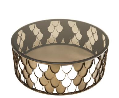 Casa Padrino Art Deco Luxus Designer Couchtisch Antik Kupfer - Wohnzimmer Salon Tisch - Luxus Möbel - Vorschau 2