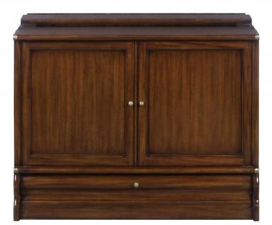 Casa Padrino Luxus Mahagoni Bücherschrank mit 2 Türen und Schublade Dunkelbraun 86 x 47 x H. 68 cm - Luxus Büromöbel - Vorschau 2