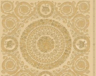 Versace Designer Barock Vliestapete IV 37055-4 - Beige / Gold - Design Tapete - Hochwertige Qualität