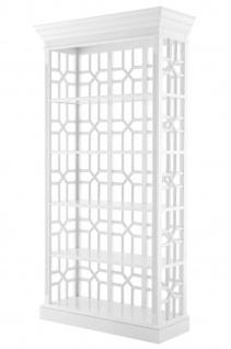 Casa Padrino Designer Mahagoni Regalschrank Piano Weiß - Luxus Qualität