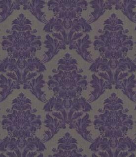 Casa Padrino Barock Textiltapete Lila / Grau 10, 05 x 0, 53 m - Tapete im Barockstil