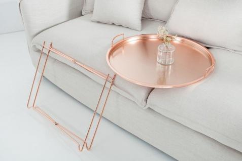 Casa Padrino Luxus Couchtisch Klappbar - Tablett Kupfer B.56 cm x H.48 cm x T.56 cm - Wohnzimmer Salon Tisch - Vorschau 4