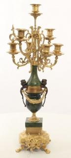 Casa Padrino Barock Kerzenständer Set Gold / Grün 22 x 26 x H. 62, 4 cm - Barockstil Möbel