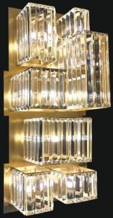 Casa Padrino Luxus Designer Kristallglas LED Wandleuchte Mattgold 26 x H. 63 cm - Luxus Kollektion