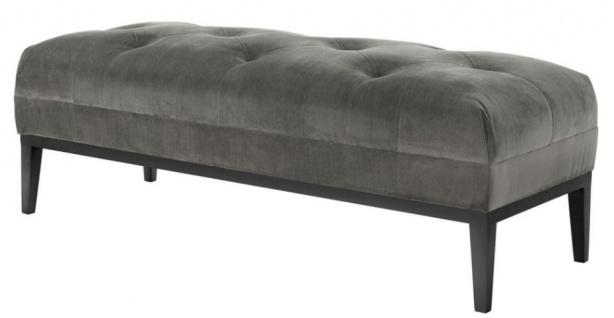 Casa Padrino Designer Sitzbank Grau 130 x 50 x H. 46 cm - Luxus Kollektion