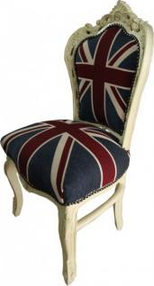 Casa Padrino Barock Esszimmer Stuhl Union Jack / Creme - Vorschau 2
