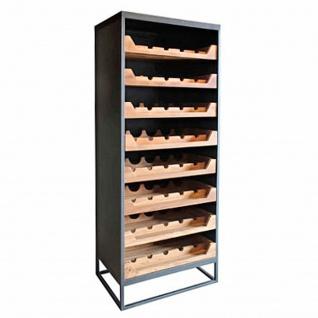 Casa Padrino Industrial Look Weinschrank 67x45x183cm Metall / Holz - Weinregal