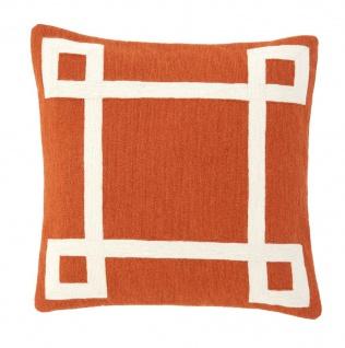 Casa Padrino Designer Zierkissen Orange 50 x H. 50 cm - Luxus Kissen