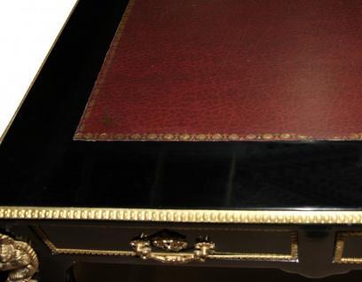 Casa Padrino Luxus Barock Schreibtisch Schwarz / Gold/ Bordeaux Sekretär Luxus Möbel- Antik Stil - Vorschau 4
