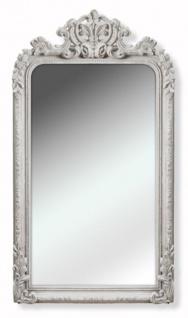 Casa Padrino Barock Spiegel / Wandspiegel Weiß 90 x H. 158 cm - Barockstil Möbel