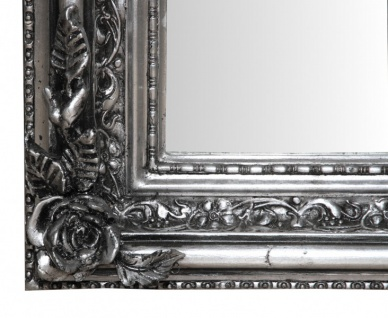 Casa Padrino Barock Wandspiegel Silber Antik-Look Höhe 159 cm, Breite 89 cm - Edel & Prunkvoll - Vorschau 3