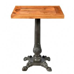 Casa Padrino Jugendstil Luxus Tisch / Beistelltisch Teak Holz / Eisen 60 x 60 x H74 cm - Cafe Restaurant Möbel