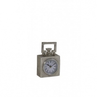 Casa Padrino Designer Tischuhr BRADFORD 10, 5x5, 5x14 cm Nickel - Antik Look